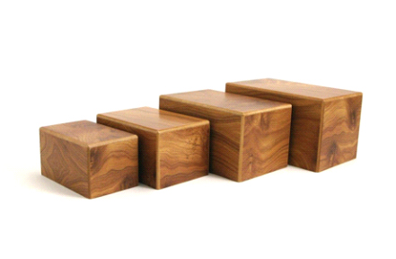 Natural Wood Urn